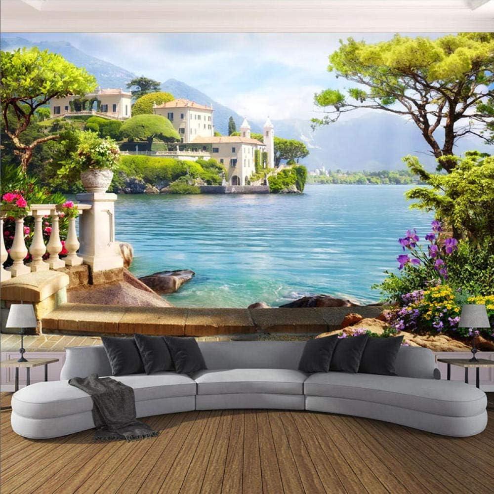 Photo Wallpaper 3D 25% OFF Garden Lake Scenery Murals Room Tampa Mall Living Tv Sof