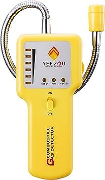 Amazon.com: Detector de fugas de gas natural – detector de fugas de gas propano de metano con alarma de luz de sonido, sensor de gas portátil para el hogar : Herramientas y