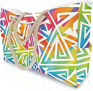 Extra große Damen Strandtasche mit Anti-Diebstahl-Magnetschnalle, Anti-Diebstahl-Strandtasche mit Innentasche Umhängetasche