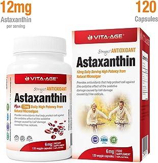 配送料無料 VITA-AGE Astaxanthin アスタキサンチン の強力な抗酸化物質 (1日1-2粒/120粒入)【海外直送品】