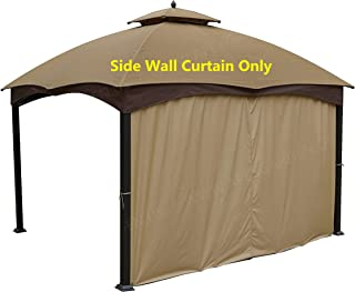 APEX GARDEN Universal 12' Privacy Panel Curtain (One Side) for 10' and 12' Gazebo
