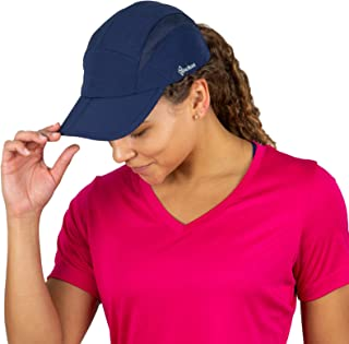 Folding Bill Running Hat for Women | Summer Cap with UV Protection