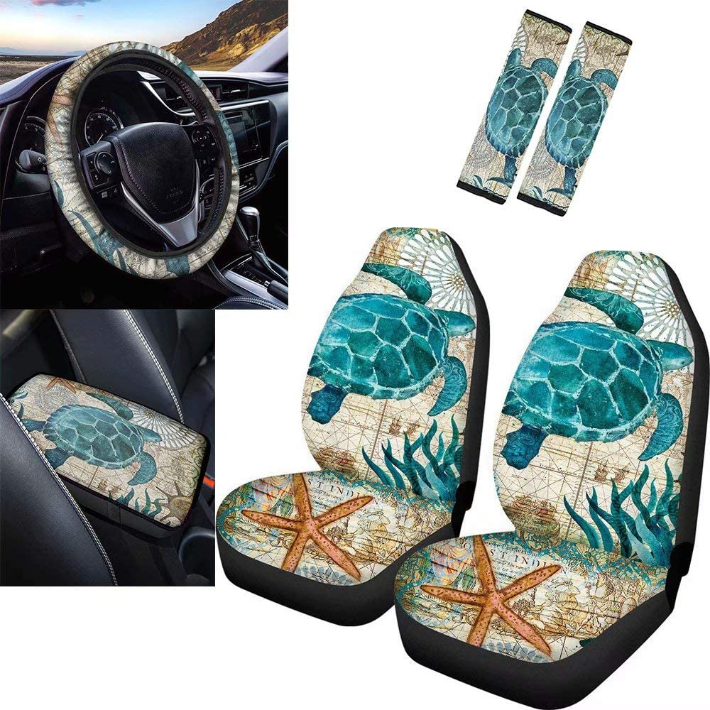 GePrint World Map Sea Turtle 2021 spring and summer new Print Pieces 6 Denver Mall Car Set Accessories