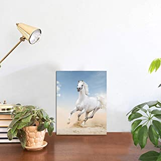 Yagqiny Run Rearing Forward Race Horse Photo Display Tabletop Table Picture Display Home Decor Tabletop Frames Photo 8x6 Inch Display Photo Stand Picture Display Stands