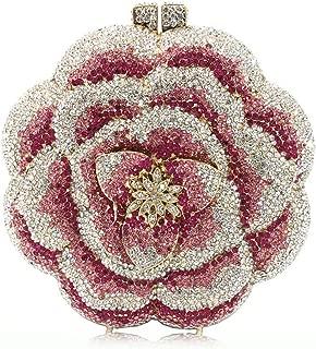 Flower Rhinestone Clutch Bag Women's Diamond Crystal Evening Bags