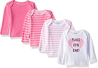 Girls' Ultimate Baby Flexy 4 Pack Long Sleeve Crew Tees