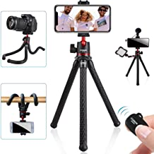 Tripod for iPhone, COMAN Flexible Camera Tripod, Hidden Phone Tripod Mount with Cold Shoe, Waterproof Tripod Stand for GoP...