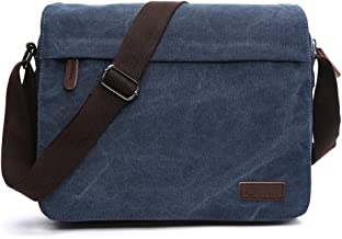 Sechunk Small Vintage Canvas Messenger Cross body bag Shoulder bag