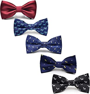 Sponsored Ad - Fter Adjustable Boys Bow Ties 5 Pack Holiday Party Dress up Toddler Bowties