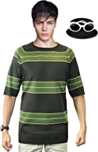 Kurt Cobain Sweater + Sunglasses Set Green Short Sleeve Shirt Costume Nirvana