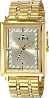 Titan Analog Gold Dial Men's Watch-NL1715YM02 / NL1715YM02