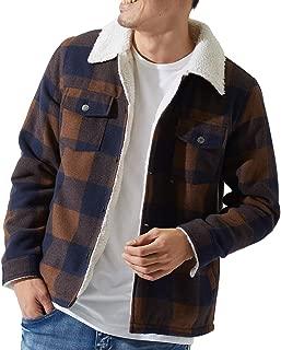 ランチジャケット メンズ メルトン ウール 裏ボア ランチコート ジャケット あったか 暖かい チェック柄 ブロックチェック ジャンパー ジャンバー GRACIAS