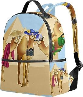 Mochila Escolar, Egipto Camel Pirámide Unisex Classic College Casual Mochila de Viaje