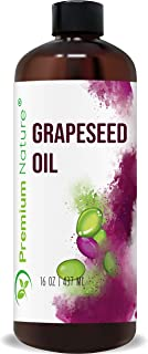Grapeseed Oil Pure Carrier Oil - Cold Pressed Grape Seed Extract Oil for Essential Oils Mixing Natural Skin Moisturizer Bo...