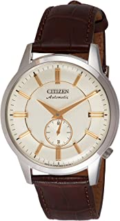 CITIZEN Mens Mechanical Watch, Analog Display and Leather Strap - NK5000-12P