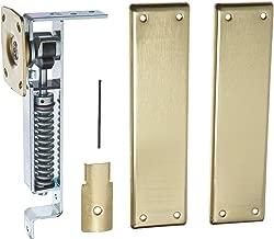 Bommer 7800 Series Cast Steel Horizontal Type Medium Duty Spring Pivot with Floor Plate, Steel Side Plate, 1.37