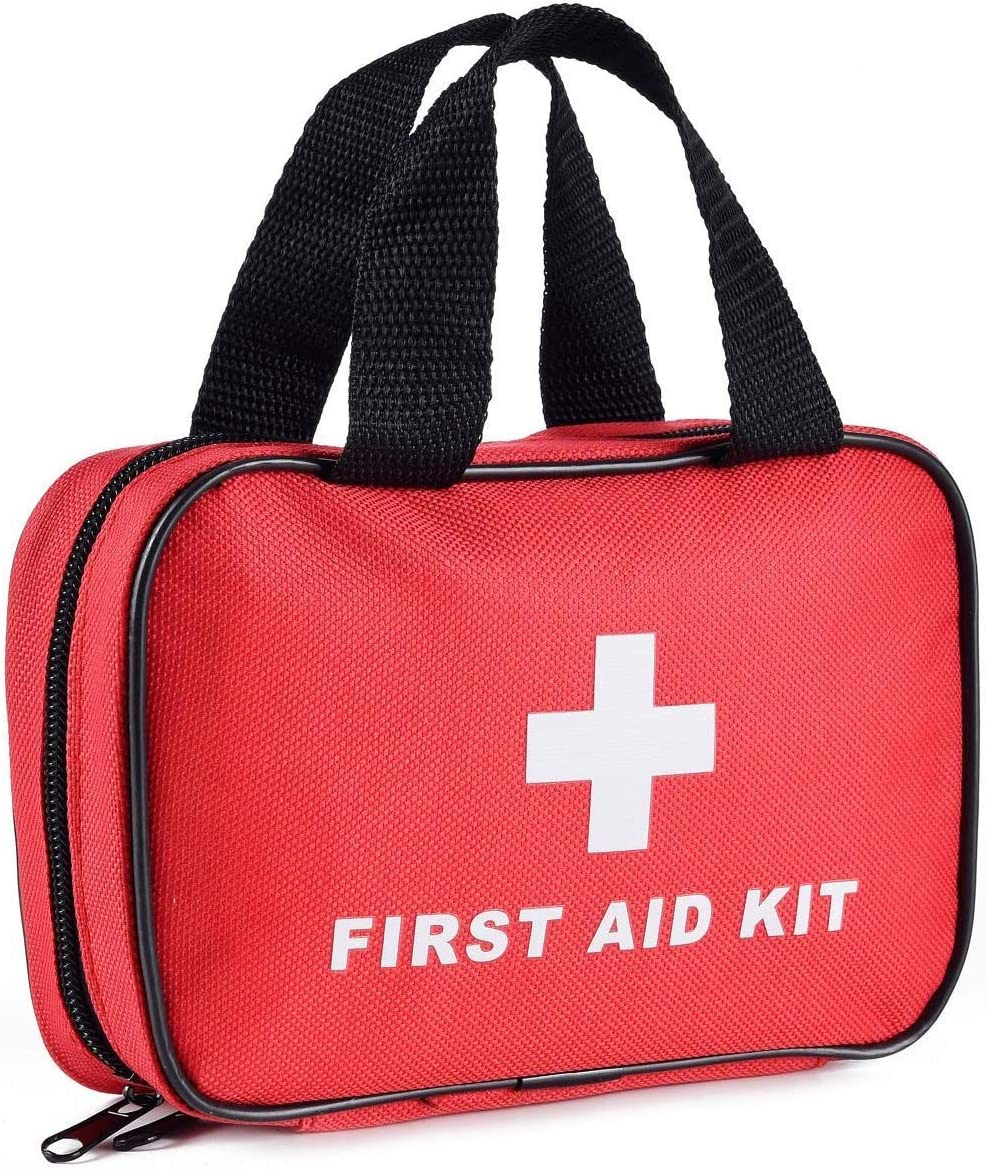 SlimK Small First Aid Kit for Car Travel & Outdoor Emergency Like Minor Cuts, Scratch, Burns & Sprain - 112 Pieces of Premium Sterile Emergency Kit First Aid Supplies - Compact & Lightweight Bag: Health & Personal Care