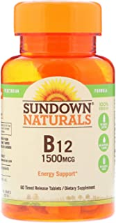 Sundown Naturals B-12 1,500 mcg Time Release Tabs, 60 ct