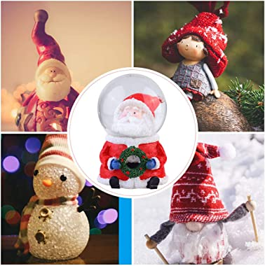 KESYOO Santa Resin Glass Snow Globe Holidays Filled Waterball Lighted Winter Glass Ball Collectible Decor Present for Christm