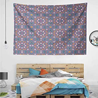 HuaWuChou Arabic Star Pattern New Launched Tapestry, Boho Mandala Tapestry, Wall Hanging, Gypsy Tapestry,Multicolor, 10W x 8L Inches