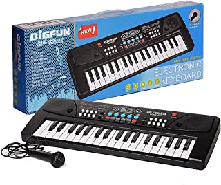Amisha Gift Gallery® 37 Key Piano Keyboard Toy for Kids with Mic Dc Power Option Recording Charger not Included Best Birth...