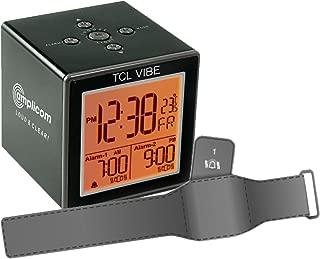 Amplicom TCL Vibe Alarm Clock, Small, Black