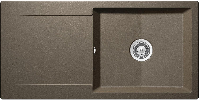 Schock Epure D-100 L A Alpaca Auflage Granit-Spüle Küchenspüle Braun