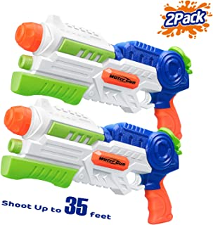 HITOP Water Gun, 2 Pack Squirt Guns Water Guns for Kids Adults Water Blaster 36oz High Capacity Fast Trigger Summer Toy for Swimming Pools Party Outdoor Beach Sand Water Fighting