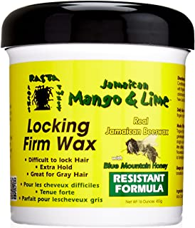 Jamaican Mango & Lime Locking Firm Hair Wax Extra Hold With Real Beeswax & Honey, 16 Oz