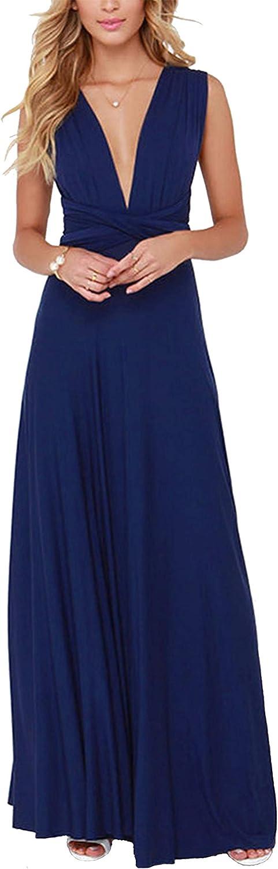 A.dasi Women's Over item handling ☆ Convertible Multiway Wrap High material Long Dress D Bridesmaid