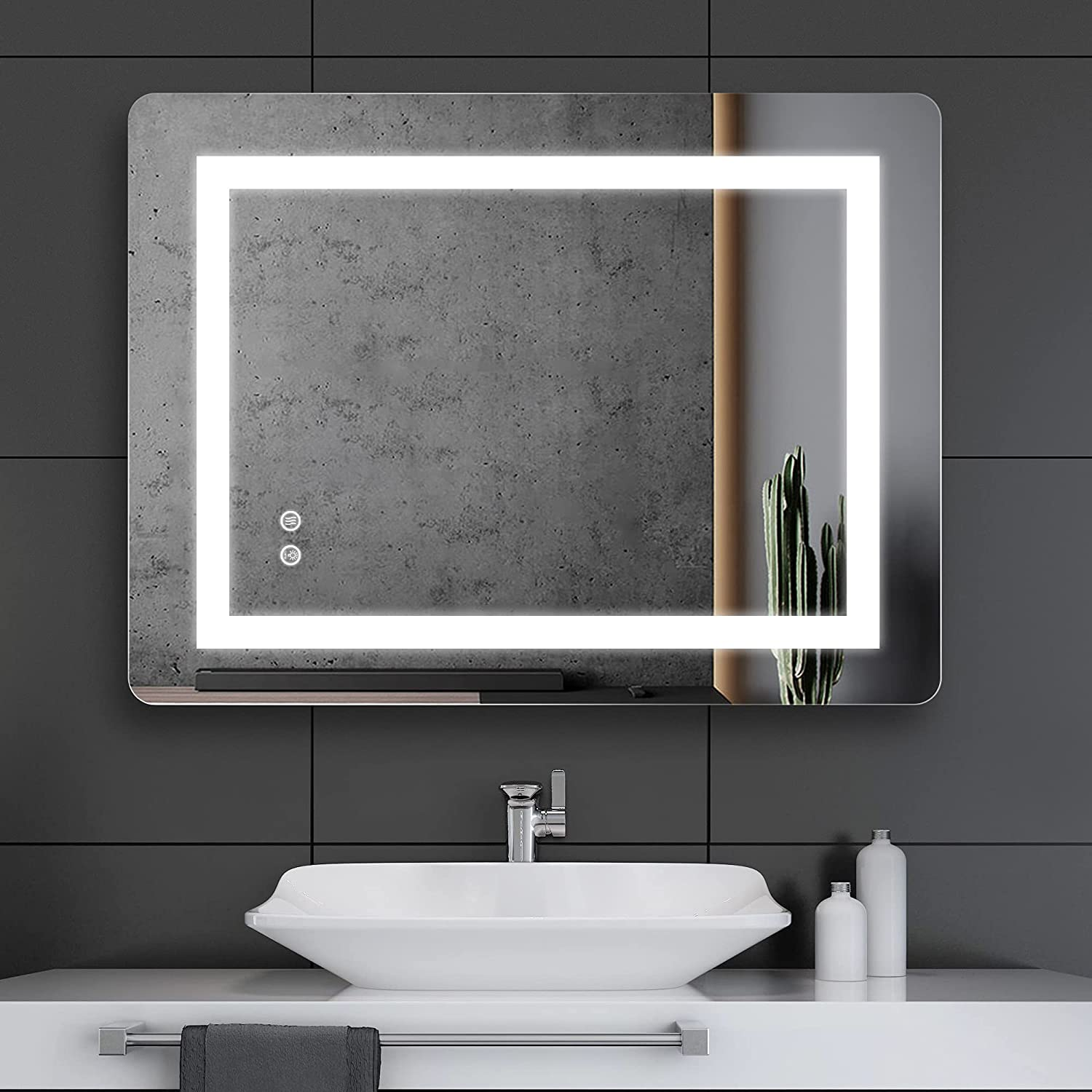 Buy Fralimk Led Mirror For Bathroom 24x32 Inch Lighted Bathroom Mirror With Lights Anti Fog Led Bathroom Mirror Dimmable Lighted Wall Mirrors With 3 Lighting Temperature Setting Horizontal Vertical Online In Hungary B09461gwzr