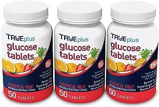 TRUEplus® Glucose Tablets, Tropical Fruit Flavor - 50ct Bottle (3)