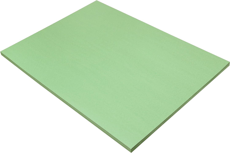 Pacon SunWorks Construction Paper, 18  x 24 , 50-Count, Light Green (8117)