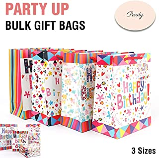 Gift Bags Happy Birthday Party Bulk with Handles Carry Lolly Paper Small Large