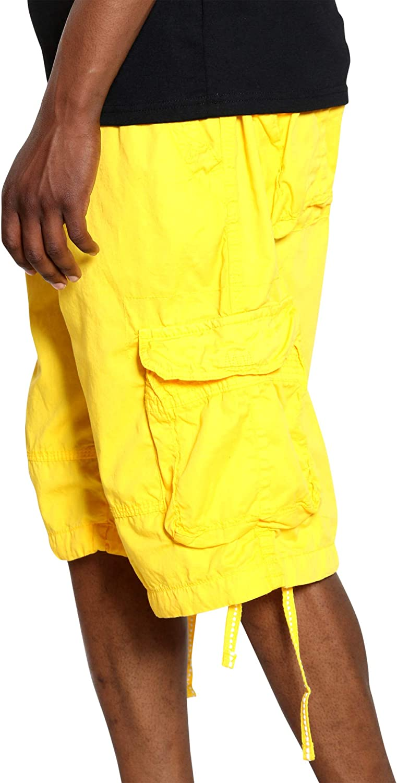 VIM Men's Belted Cargo Short - Yellow