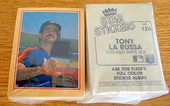 1984 Fleer Star Sticker MLB Complete Baseball set (126) with Cal Ripken, Pete Rose, Nolan Ryan, Mike Schmidt and Darrel Strawberry (Rookie Card