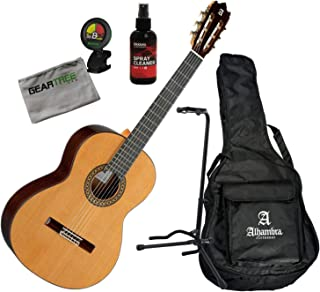 Alhambra 4OP-US Open Pore Classical Guitar w/Gig Bag, Polish, Stand, Cloth, Tune