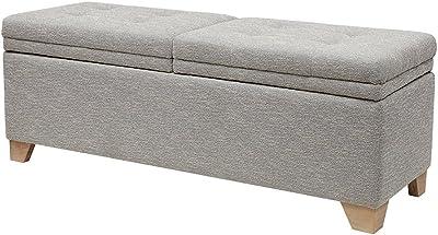 Fabulous Amazon Com Madison Park Shandra Storage Ottoman Solid Short Links Chair Design For Home Short Linksinfo