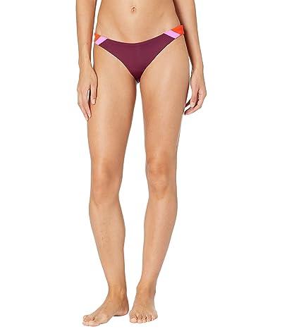 Maaji Vintage Grape Flirt Signature Cut Reversible Bikini Bottoms Women