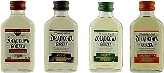 Geschenkset 4 odkowa Gorzka Sweet Minis in der Probiergröße | Polnischer Wodka | je 0,1 Liter