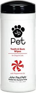 John Paul Pet Tooth and Gum Pet Wipes for Dogs and Cats, Infused with Peppermint Oil, 7