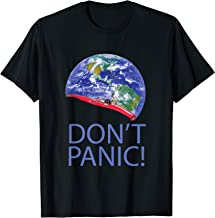Don't Panic Red Electric Car and Starman Into Space T-shirt