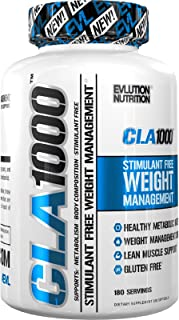 Evlution Nutrition CLA 1000, Conjugated Linoleic Acid, Weight Loss Supplement, Metabolism Support, Stimulant-Free (180 Servings)