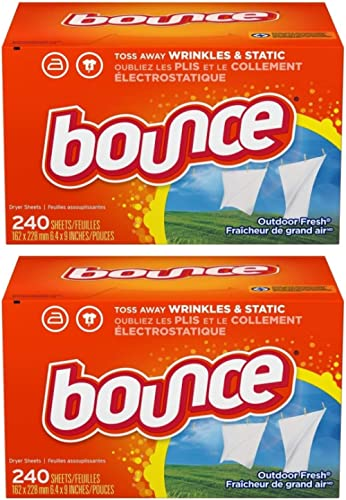 Bounce Fabric Softener and Dryer Sheets, Outdoor Fresh, 480 Count