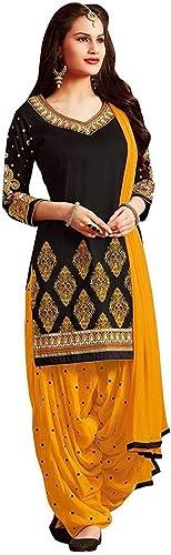 Women S Crepe Unstitched Salwar Suit Salwar Suit Dress Material For Women Black Free Size