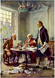 Poster Writing The Declaration of Independence Historical Art Print 36 x 24in