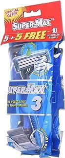 Supermax Men Disposable Triple Blade, Pack Of 5+ 5 Razors 1 Units