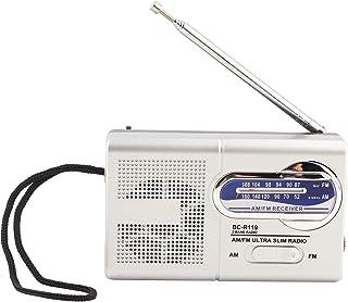 draagbare AM FM-radio, kleine radio met ingebouwde luidspreker, BC-R119 zakradio met telescopische antenne, werkt op batte...