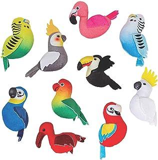 TROPICAL BIRD PLUSH 50 PC ASSORTMENT - Toys - 50 Pieces