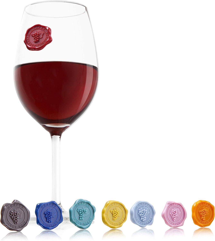 Vacu Vin Marcadores de Copas, Silicona, 145x202x16, 8